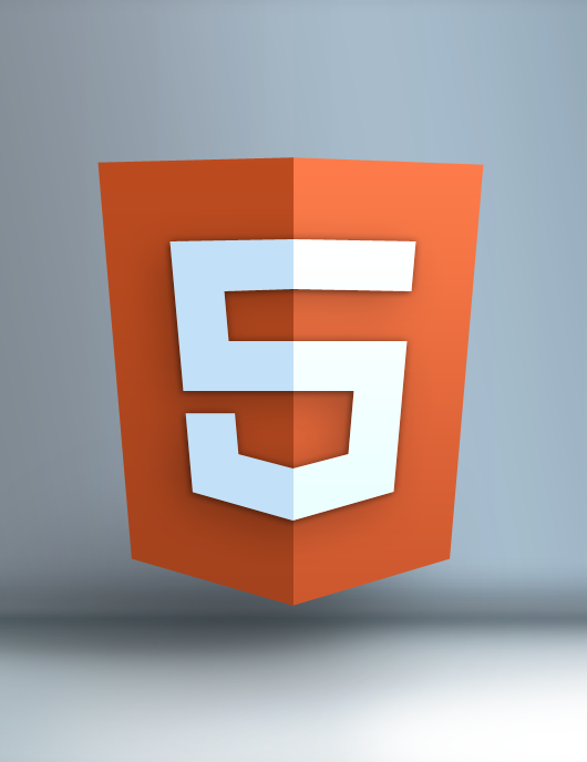 HTML 5 Shield Logo in 3D   Free PSD