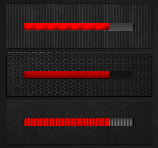 3 progress bars   Photoshop CS6 Freebie