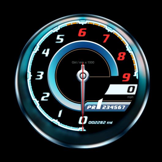 Lamborghini Tachometer Freebie
